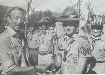 Mike Zacharias at 14th World Scout Jamboree